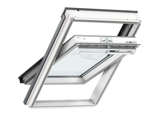 VELUX - GGL MK04 2070 - White-Painted Pine, Centre-Pivot, lam glazing/toughened outer 78x98